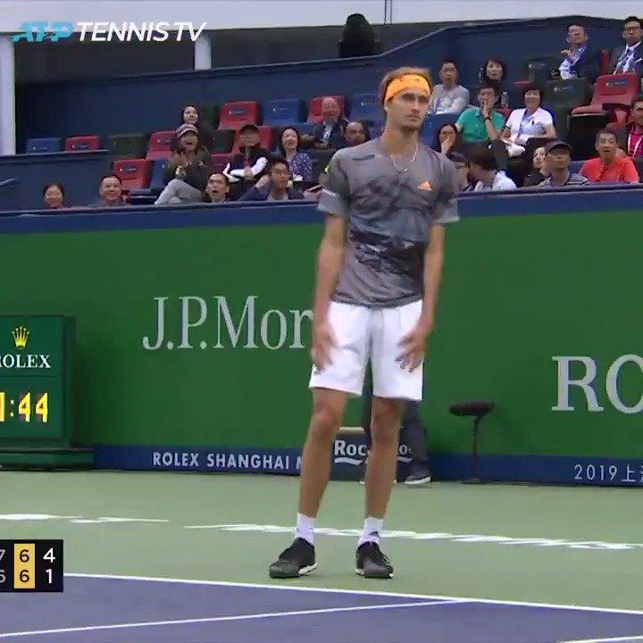 Hey Alex...  You might need this in the next round 😂  🎥: @TennisTV | #RolexShMasters | @AlexZverev