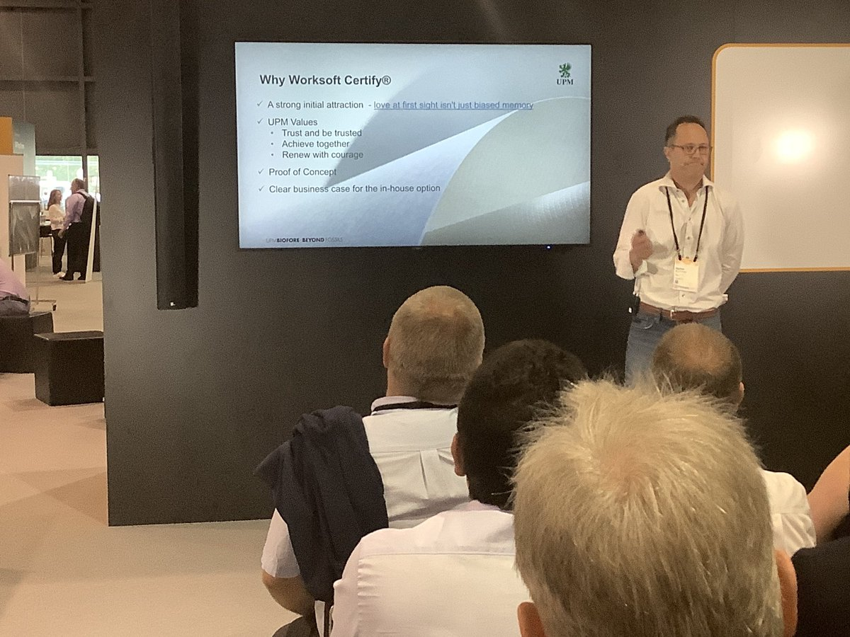 Codeless. Continuous. Comprehensive. @upmprofi shares the value of @WorksoftInc automation for enterprise applications with #SAPTechEd attendees! Stop by booth 7 to speak with our experts and see how #continuousautomation speeds projects, enhances quality, and mitigates risk.