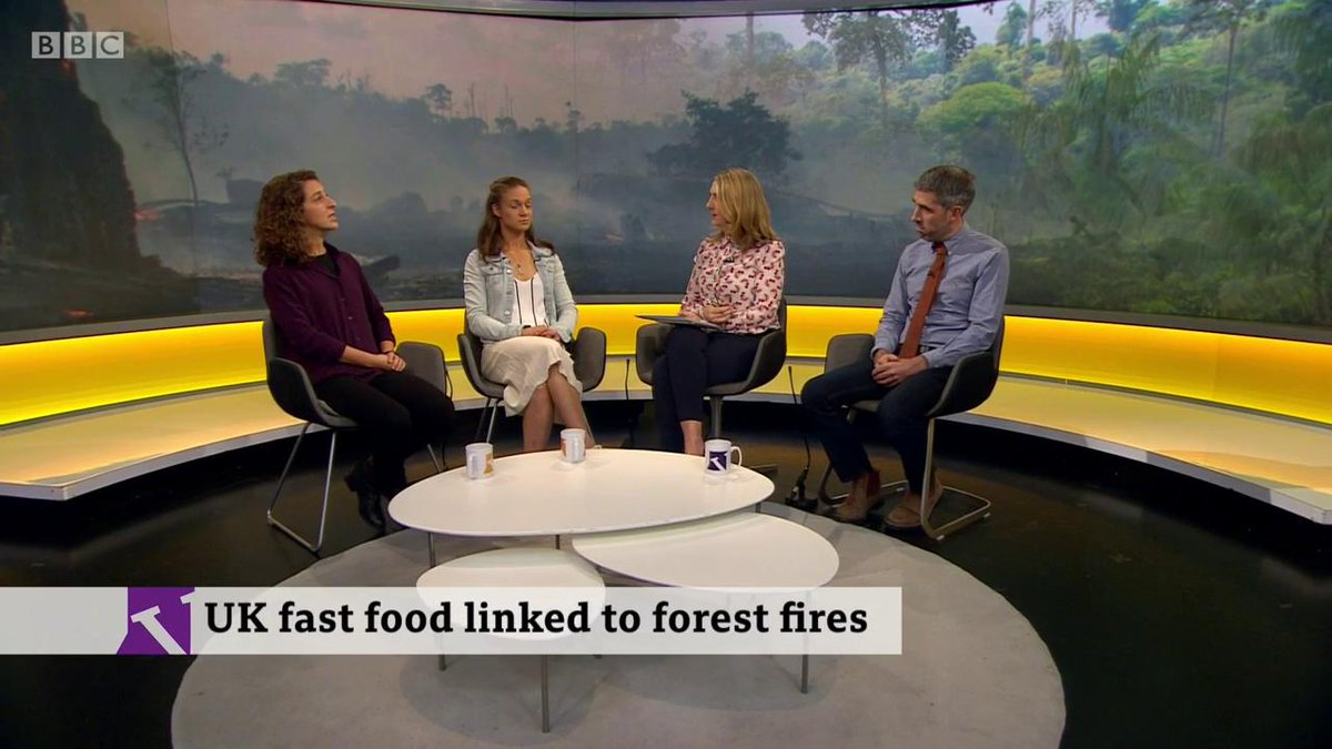 Their forest is being completely devastated' Sarah Schenker @Survival on how people in the Brazilian forests are being affected by fires and soya crops. @GreenpeaceUK wants UK fast food chains to stop using Brazilian soya beans. bbc.in/2AU5Trp