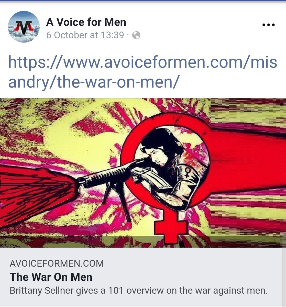 Just the world's largest Men's Rights site promoting a white supremacist who tried to drown refugees at sea, and whose husband has ties to the Christchurch mosque terrorist.  <br>http://pic.twitter.com/2aB9fv0FZS