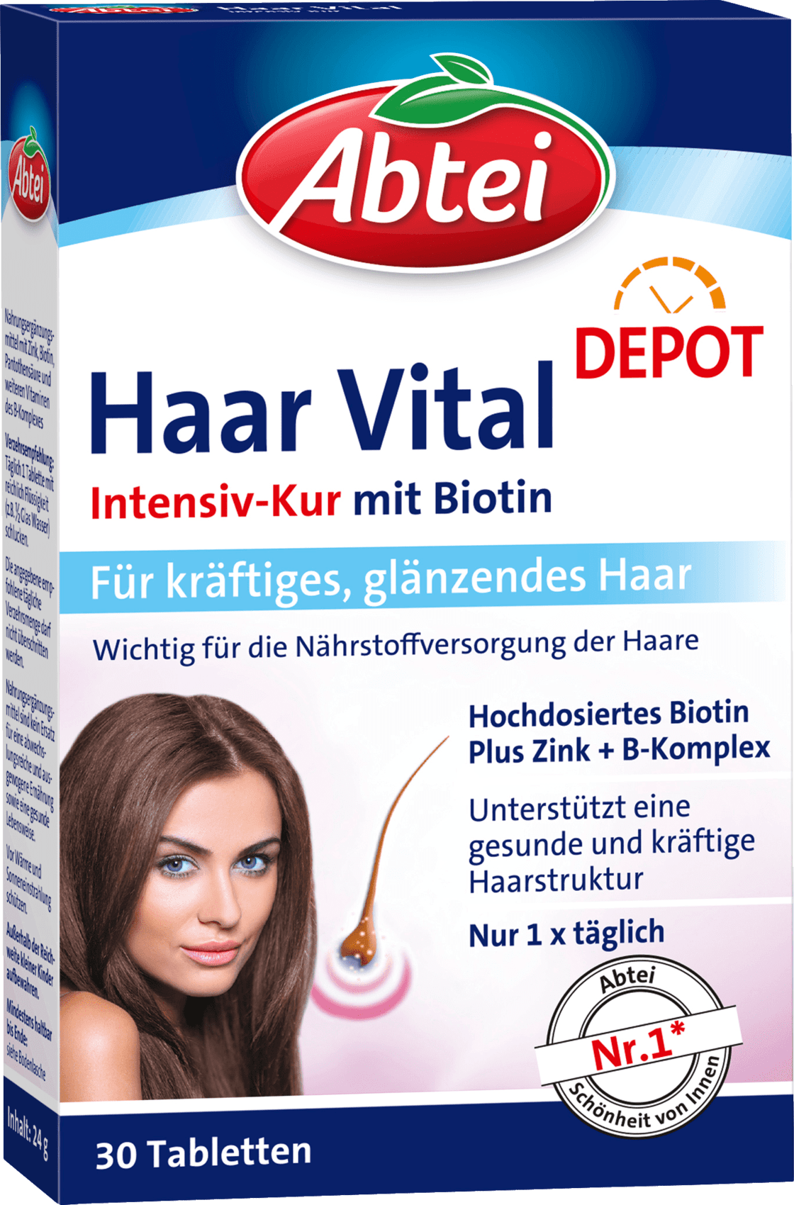 Details About Abtei Haar Vital For Hair Dietary Supplement Health Care From Germany