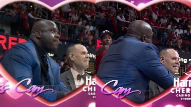 【影片】NBA現場經典KISS CAM鏡頭!祝有情人終成眷屬,歐尼爾搶鏡-Haters-黑特籃球NBA新聞影音圖片分享社區