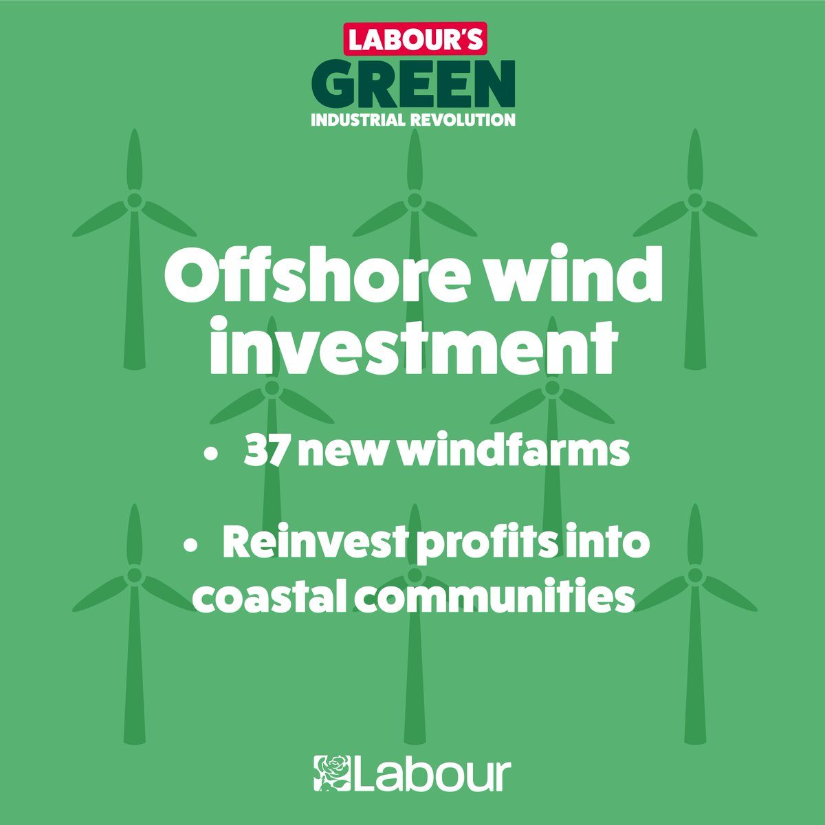 Labour takes the #ClimateEmergency seriously. It's time for a Green Industrial Revolution. Well increase UK offshore wind power five-fold over ten years, creating 67,000 good, unionised jobs. Are you with us? action.labour.org.uk/page/s/green-i…