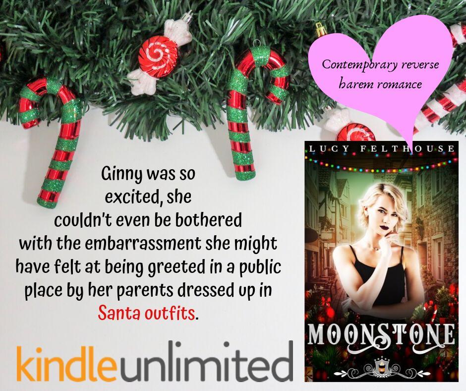 My Christmas-themed, standalone, steamy reverse harem romance novella, Moonstone, is now available for pre-order! Releasing 23rd December ~ http://books2read.com/moonstoneJC #reverseharem #whychoose #rh #LPRTG #SSRTG #ASMSG #SupportIA #IARTG #amreadingromance #eroticromance