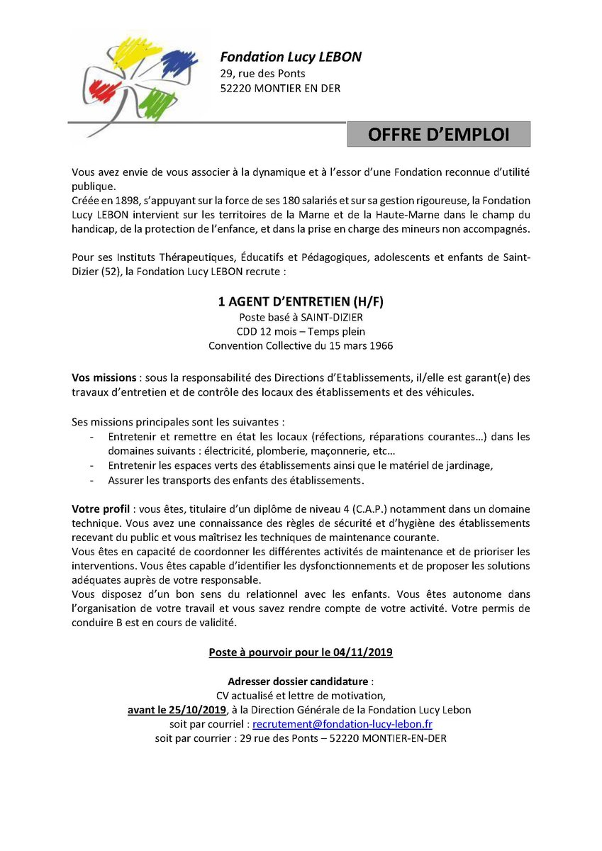 Irts Champagne Ardenne On Twitter Recrutement Emploi