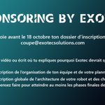 Image for the Tweet beginning: [Sponsoring #CDR2020 by #Exotec] Tu