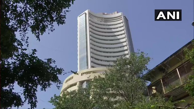 Sensex at 38,177.95 points, up by 645.97 points. Nifty at 11,313.30 points, up by 186.90 points. <br>http://pic.twitter.com/bf05cNRLAA