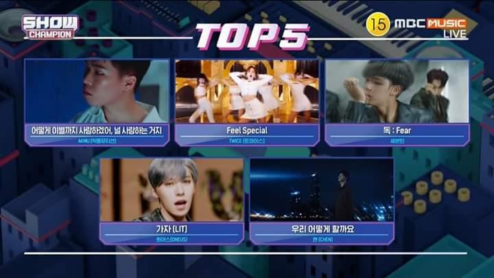 #FeelSpecial1stWin at Show Champion 🏆 #FeelSpecial2ndWin at M Countdown 🏆 #FeelSpecial3rdWin at Music Bank 🏆 #FeelSpecial4thWin at Inkigayo 🏆 #FeelSpecial5thWin at Show Champion 🏆