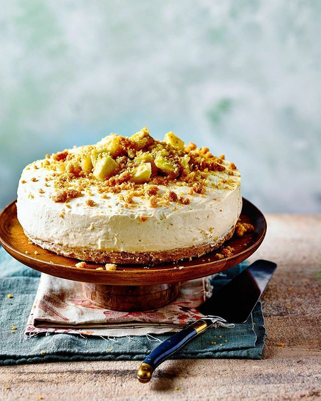 Apple Crumble Cheesecake in this month's @goodhousekeepinguk mag. Shot with @meikebeck @foodieemma @aliceeshields Props @jenny_igg https://ift.tt/30VyyXz