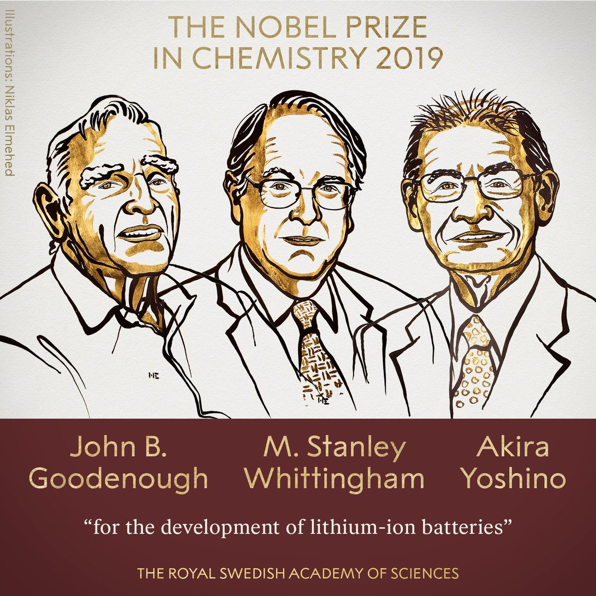 Inventor, teacher, Texas Engineer, and now #NobelPrize winner 🤘🤘🤘Congratulations to John Goodenough, winner of the Nobel Prize in Chemistry for his development of lithium-ion batteries: https://bit.ly/2nuxSea