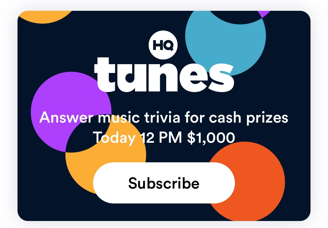 BREAKING 🚨A new game type is appearing in the beta version of the HQ Trivia app!HQ Tunes is scheduled for 12P PST today 🔊Who else is seeing this in their app??