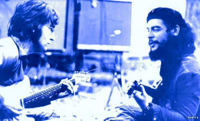 .. and now, they sing happy birthday for John in heaven....  - Che and John Lennon 1966