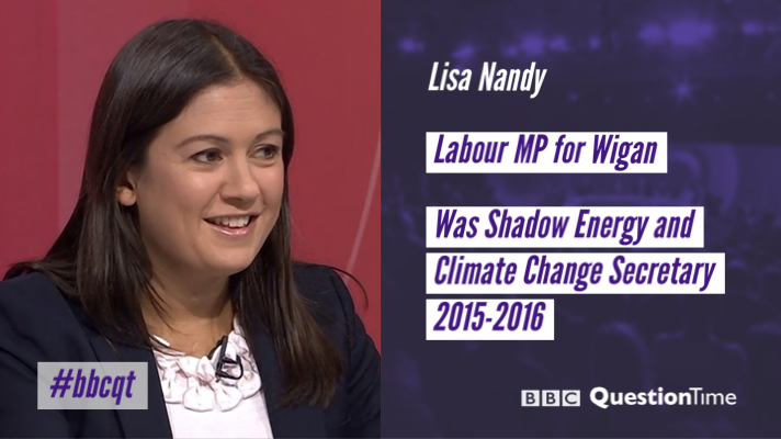 Labour MP for Wigan @lisanandy is on the panel tomorrow #bbcqt