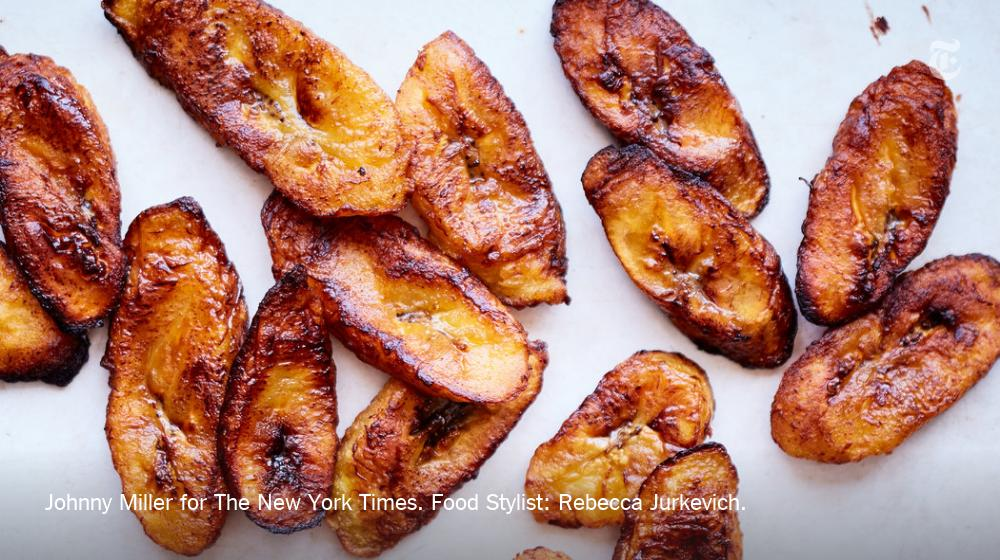 For the sweetest maduros, use blackened plantains — they have the most sugar, and will yield a more caramelized result. https://nyti.ms/2LZwjhD