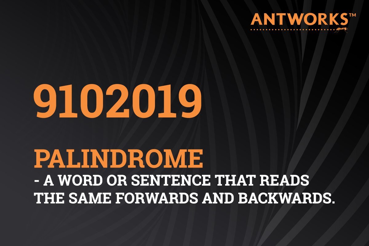 Look closely and you'll see patterns everywhere - from today's #palindrome date to the fractal science that powers #ANTsteinSQUARE. See the 400+ ways our fractal-enabled #IAP can transform your business from the inside out: https://www.ant.works/usecases #AntWorksisFractal #AUM