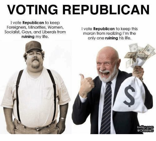 RT @MrsRabbitResist: For The Gullible By The Greedy! 🤑#RepublicanCampaignSlogans https://t.co/qUhrfUKmXT
