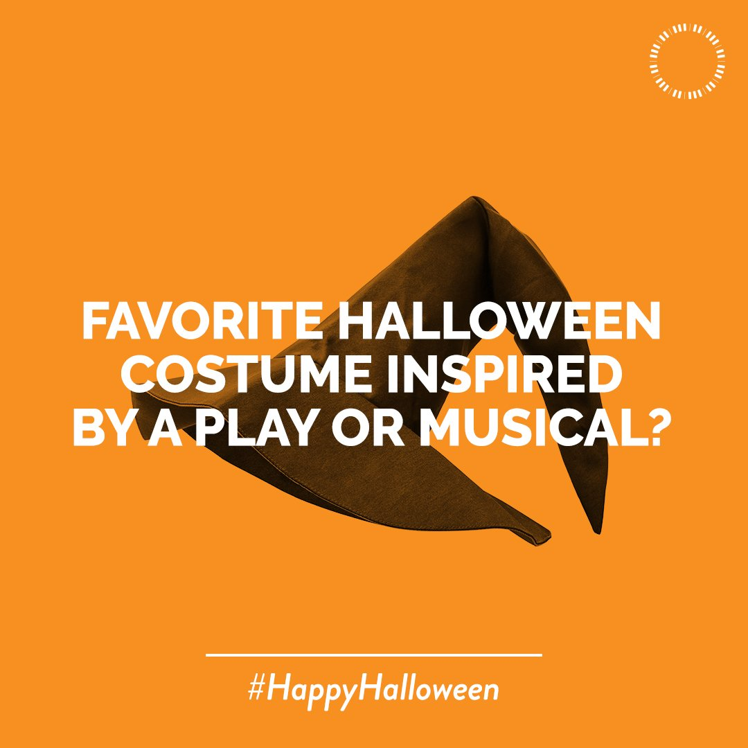 Being a theatre kid means you get to dress up all year round, but on Halloween you really get to show off your skills. Tell us which play or musical will inspire your #HalloweenCostume this year!