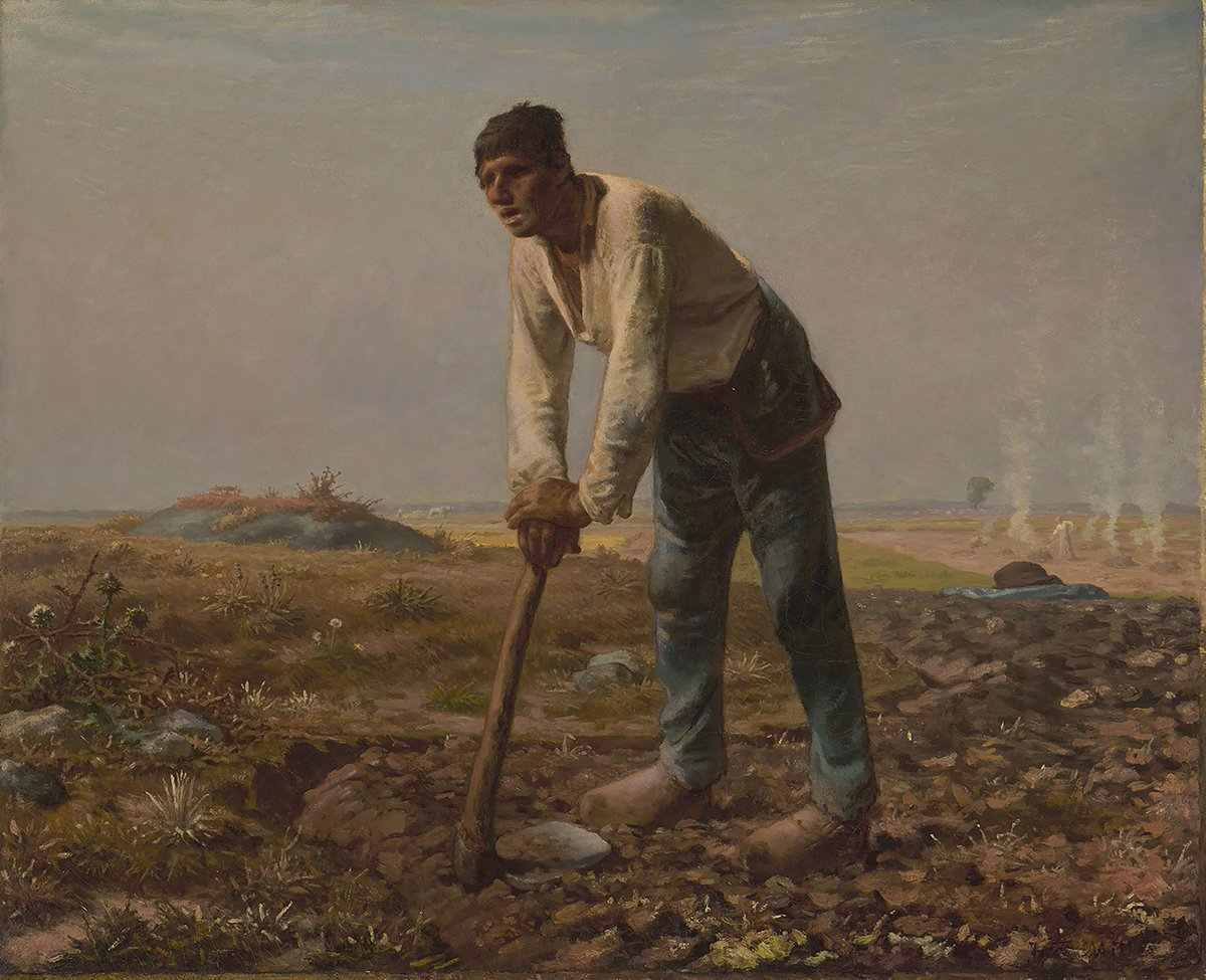 Was Millet an influencer for the artists who followed him? Artists all around the world admired his work. They were impressed by how his artworks focused on the relationship between man & nature. Millet @Getty; Vincent van Gogh; Kazimir Malevich @Stedelijk vangogh.nl/mte350wwfYn