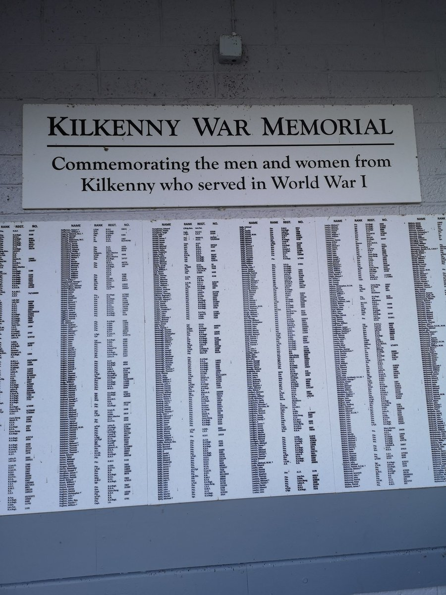 Standing in Kilkenny Railway Station when I saw this WW1 Memorial. Poignant to see two grand uncles names on it - one who died at the front #wewillrememberthem @GregDenieffe<br>http://pic.twitter.com/CaCnnqC79j