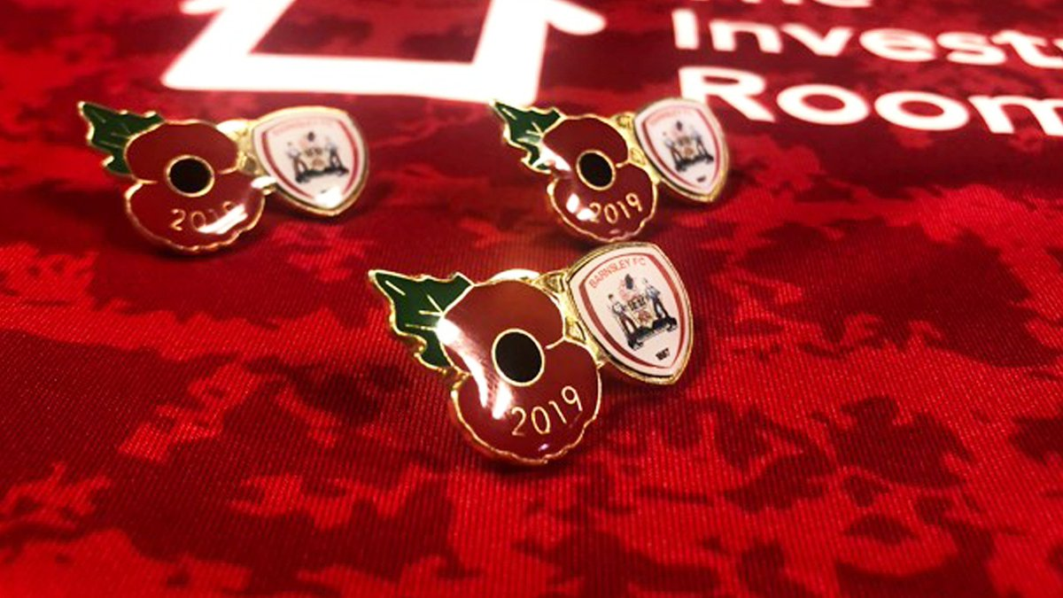 Barnsley FC poppy badges are now available. All proceeds will be donated to the Royal British Legion. ➡️ barnsleyfcdirect.co.uk/gifts-souvenir…