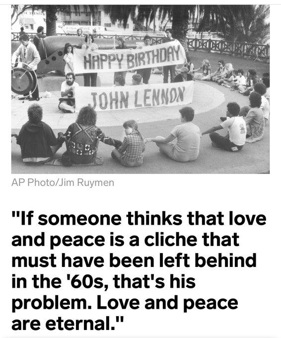 Love and Peace -John Lennon  Happy Birthday