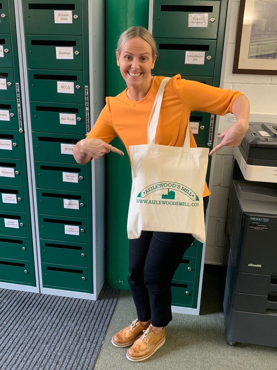 We're chuffed to bits with our new Mill Bags! Thank you so much @OwtButCattle we're looking forward to giving these out #millbag #nomoreplasticbags