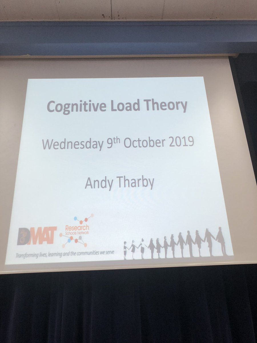 Looking forward to some in house CPD with @atharby on cognitive load theory tonight