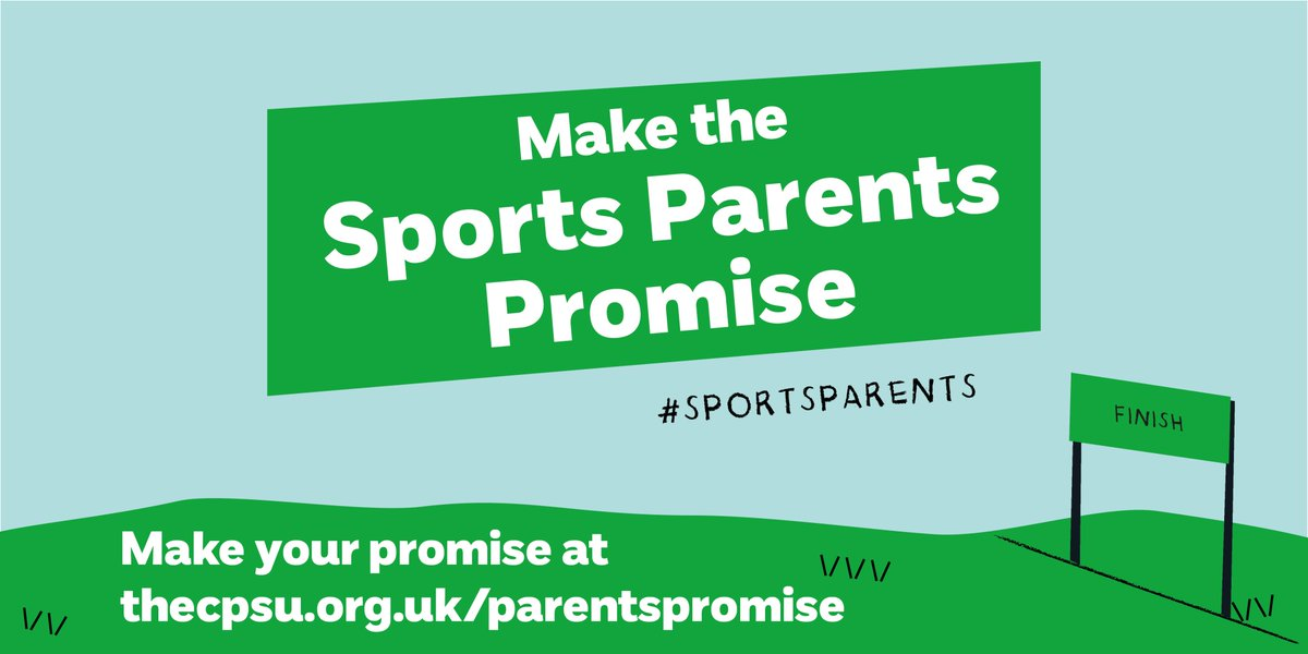Its Parents in Sport Week (7-13 October 2019). There's still time to make the #SportsParentsPromise and support the campaign. @TheCPSU #SportsParents Make your promise at thecpsu.org.uk/parentspromise Find out more at bit.ly/2LXTp8t