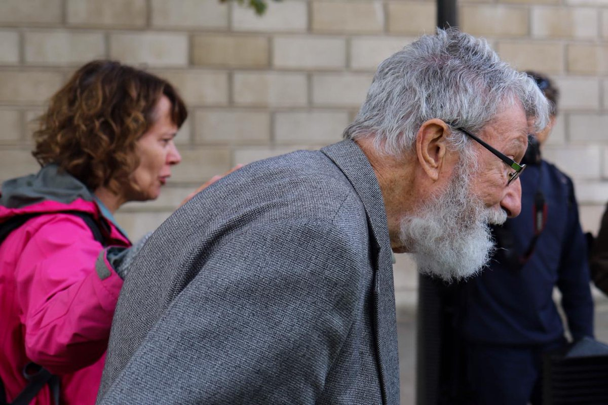 Meet John, 92 years old who is getting arrested at Downing Street. Photographed by Ashutosh Joshi