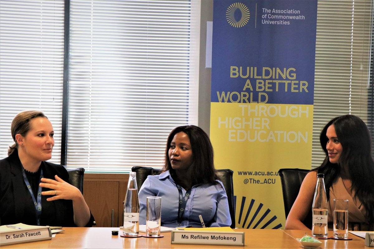 #ICYMI our Patron, HRH The Duchess of Sussex, joined students & academics at @go2uj 🇿🇦 for a roundtable on solving global challenges through inclusive #highered Check out the key discussion points on our blog 👉 bit.ly/2LYdyLC #genderequity @DrJoannaNewman @fayectaylor