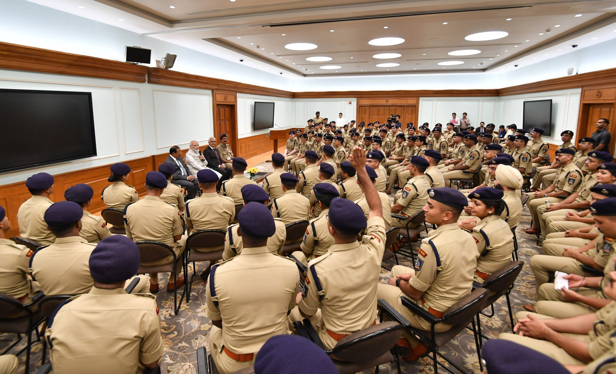 """Narendra Modi on Twitter: """"Interacted with young police officers from the  2018 Batch of the IPS. We discussed a wide range of subjects relating to  further enhancing the working of our police forces, including greater usage  of technology. https://t.co ..."""