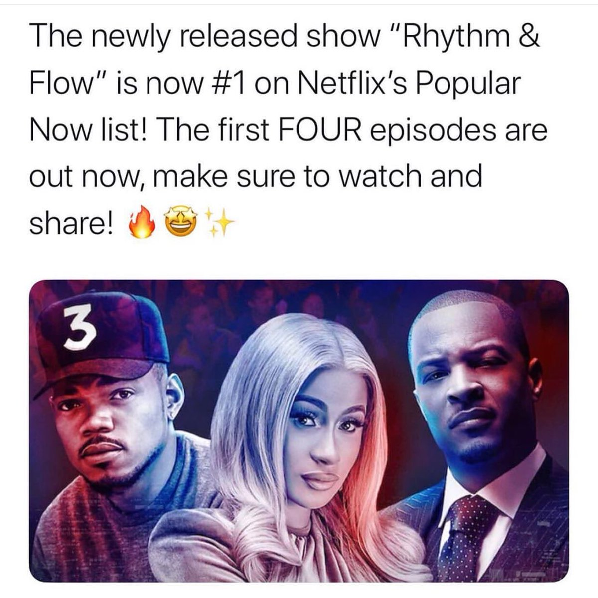 Here's a Fun Fact👑 Rhythm + Flow is now streaming on Netflix @rhythmflow #RhythmAndFlow