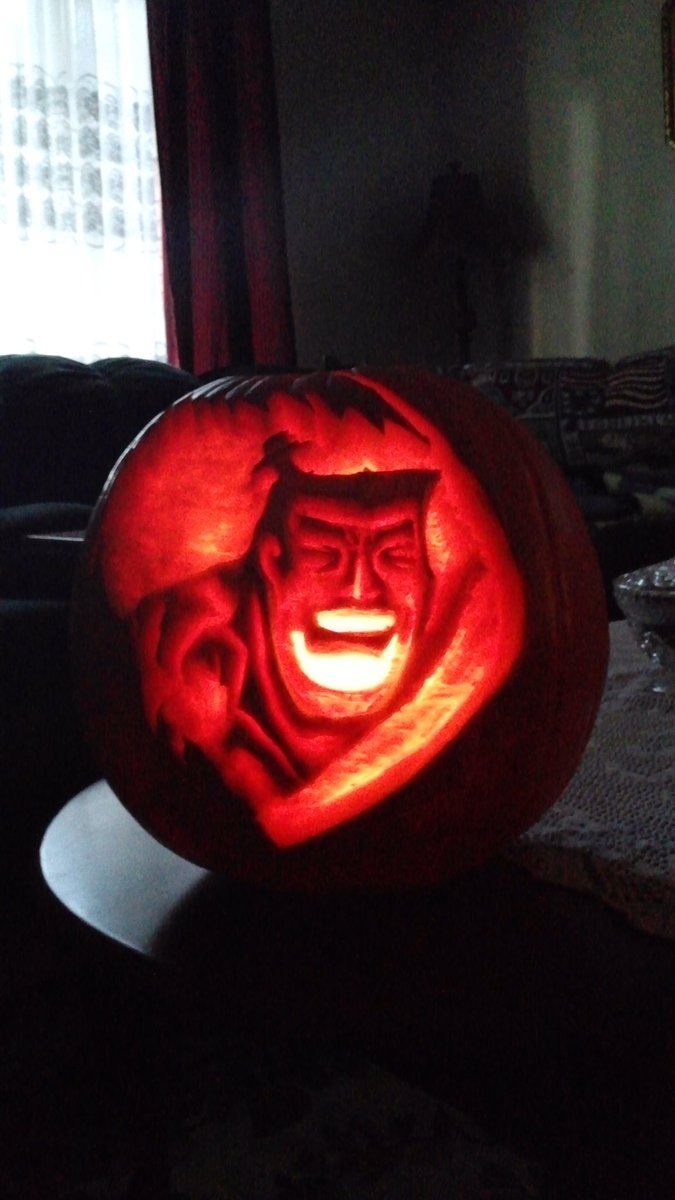 'Samurai Jack-O'-Lantern'#AddPumpkinMakeAnythingBetter@iCanHash@HashtagRoundup