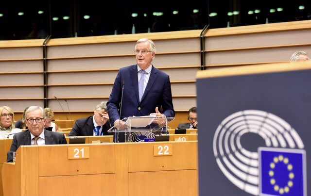 We are not there in #Brexit talks. EU unity confirmed in @Europarl_EN #EPlenary, alongside @JunckerEU. We will remain calm, constructive, respectful. We need real, credible solutions for the island of Ireland. Finding an agreement is difficult, but still possible.