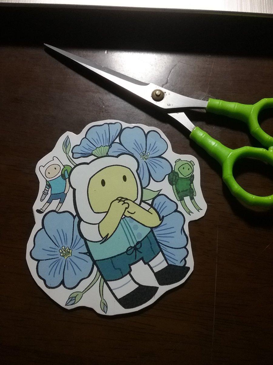 Sticker making progress so far: Nearly there-  Fern has a texture-  #finnthehuman #fernthehuman #finncest #fanchild