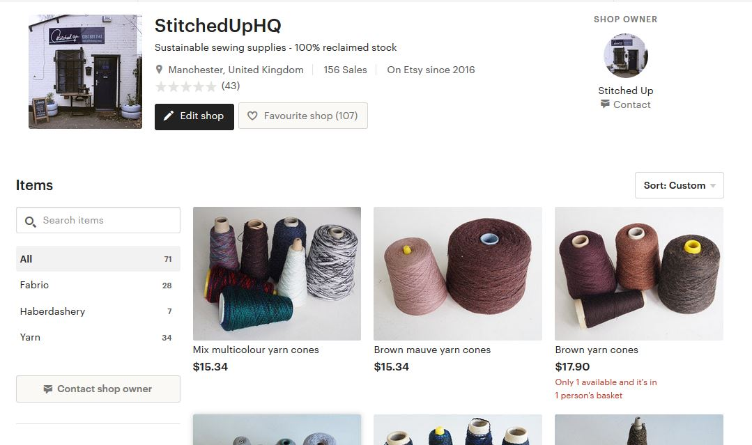 Stitched Up On Twitter Shop News Everyone Our Etsy Shop Is Live And Kicking We Have Absolutely Loads Of Lovely Reclaimed Yarns For You As Well As Fabric And Trims And