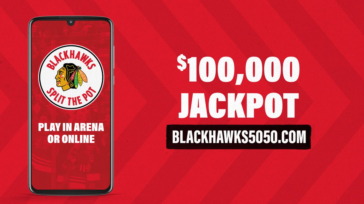 We're guaranteeing a *minimum* $100,000 jackpot at tomorrow's home opener!  50% of the proceeds benefit the #Blackhawks Foundation and one lucky fan takes home the other half. Will it be you?  🎟️: