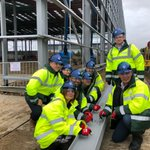 Image for the Tweet beginning: We held a topping out