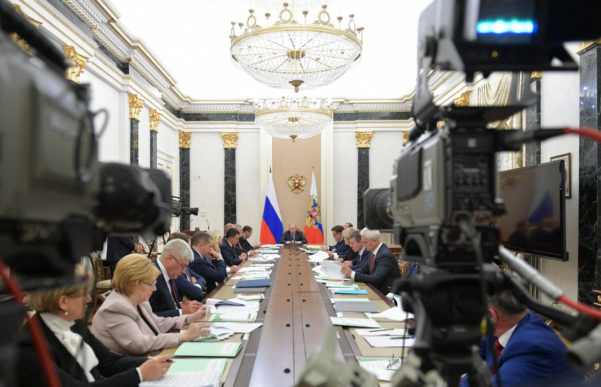 #Kremlin: Meeting with Government members @GovernmentRF bit.ly/2ICtAJ5