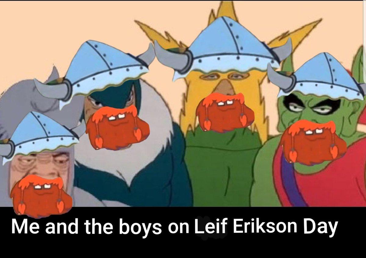 When you call the boys over on leif erikson day #HingaDingaDurgen #HappyLeifEriksonDay