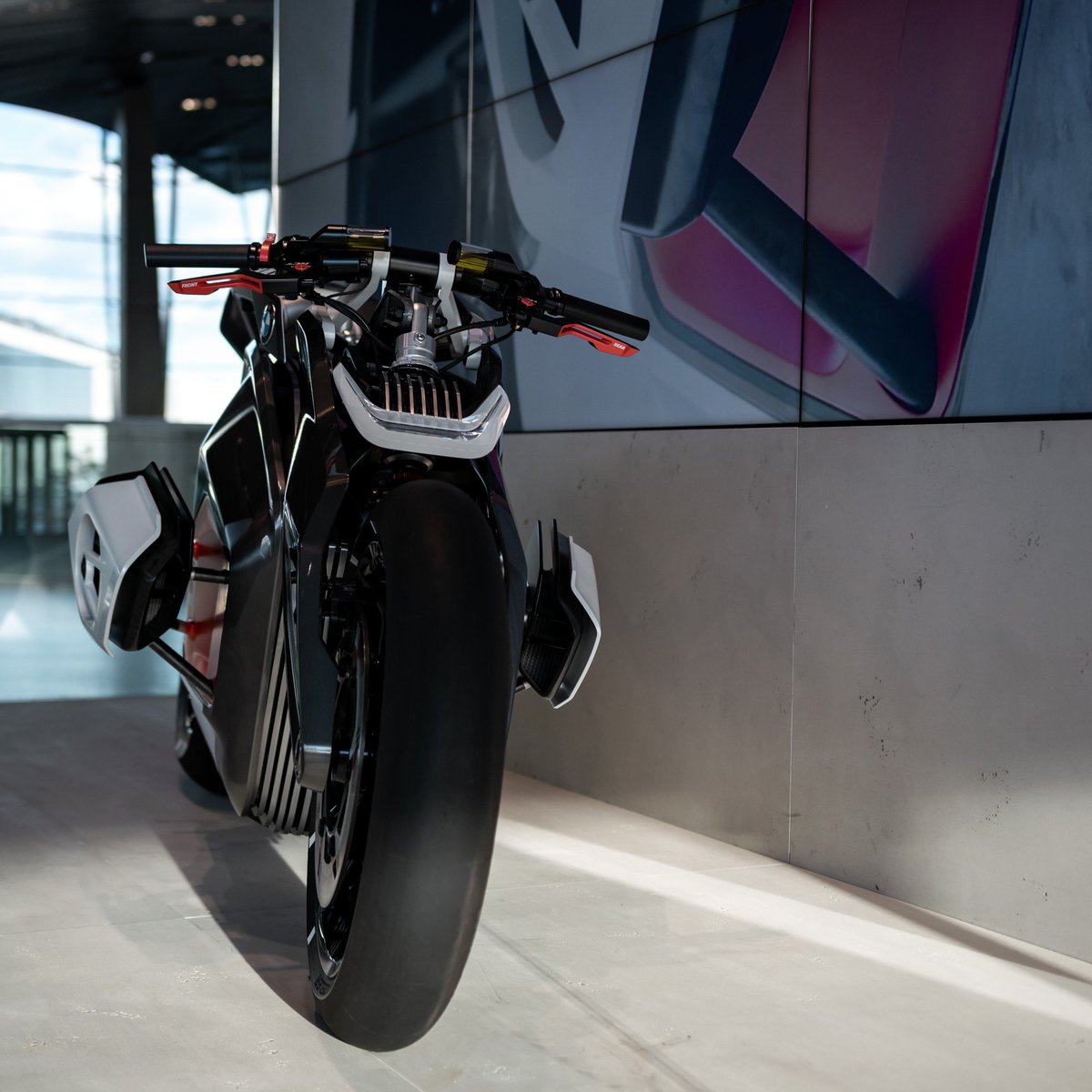 Ever wondered how the bikes of tomorrow might look? Discover the innovative and visionary BMW Vision DC Roadster at BMW Welt, and take a ride into the future. @BMWMotorrad #BMWWelt #everysecondjoy