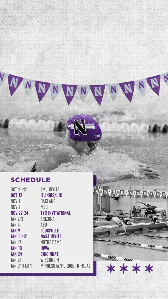This weeks #WallpaperWednesday features @NUSwimDive! 🏊📱Presented by @ConstellationEG #B1GCats x #GoCats