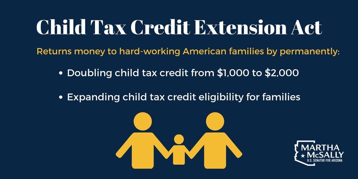 ICYMI: Having kids is expensive. I want to give families a break—by making expansions to the child tax credit permanent.