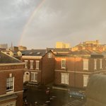 Rainbow seen from our office in Preston, a day full of sunshine and showers #autumn #weather #preston