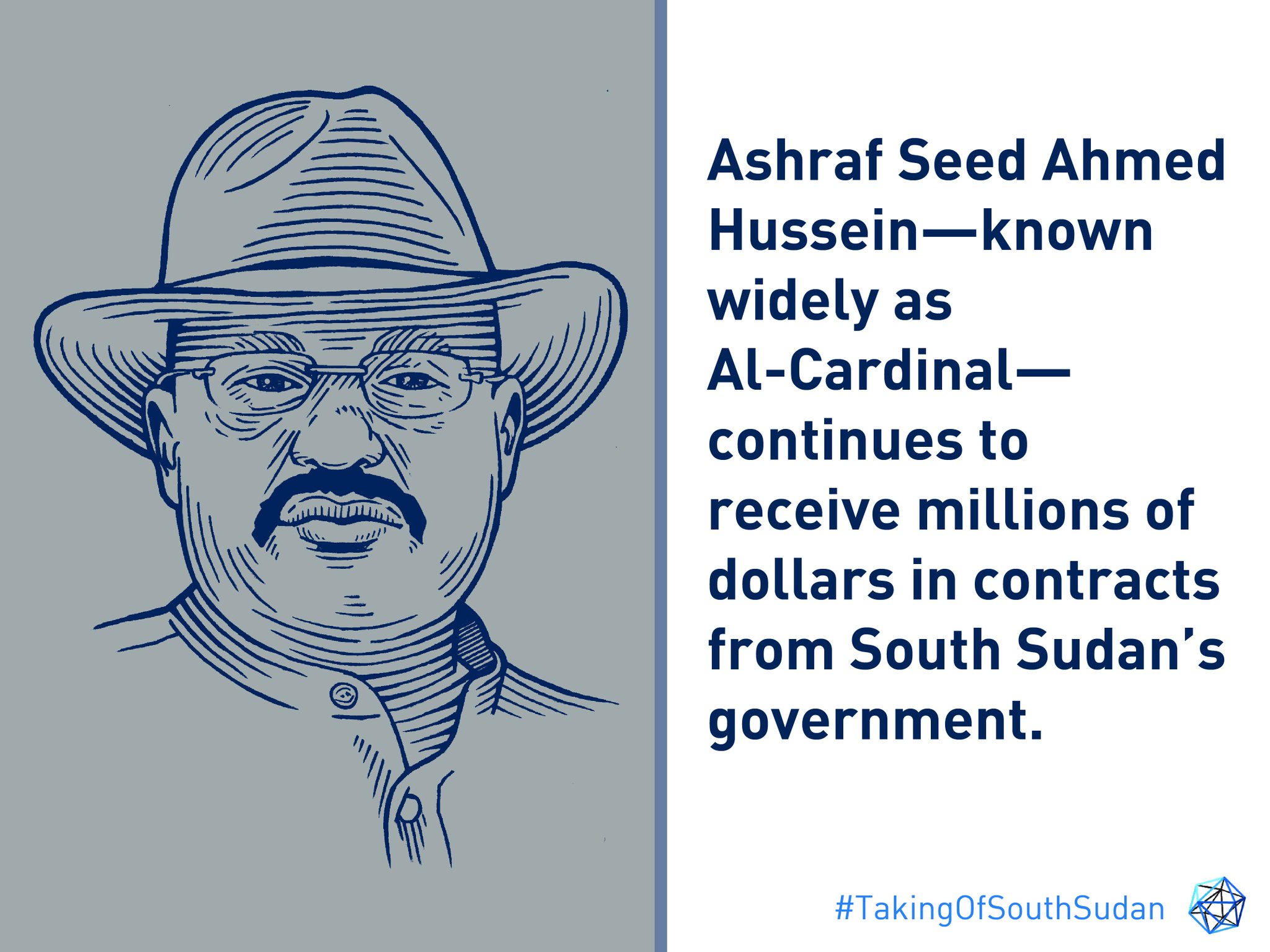 "The Sentry on Twitter: """"Al-Cardinal: South Sudan's Original Oligarch""  spotlights business activities of Sudanese businessman who has mastered the  art of doing business in a state riddled with corruption. Explore the  report:"