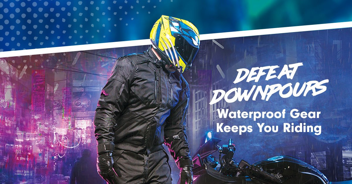Don't let bad weather ruin your ride.  Waterproof Motorcycle Gear: https://t.co/IZfLBwcqus https://t.co/8IAYP1FItw