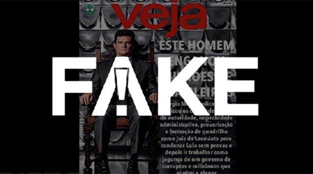 """É #FAKE capa da revista Veja com Moro e o título """"Este homem enganou milhões de brasileiros"""" https://glo.bo/2IDb6s1 #FatoOuFake"""