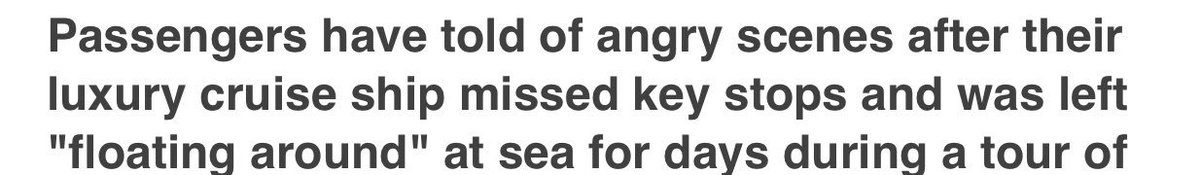"""""""Floating around at sea for days"""" isn't that what a cruise is?"""