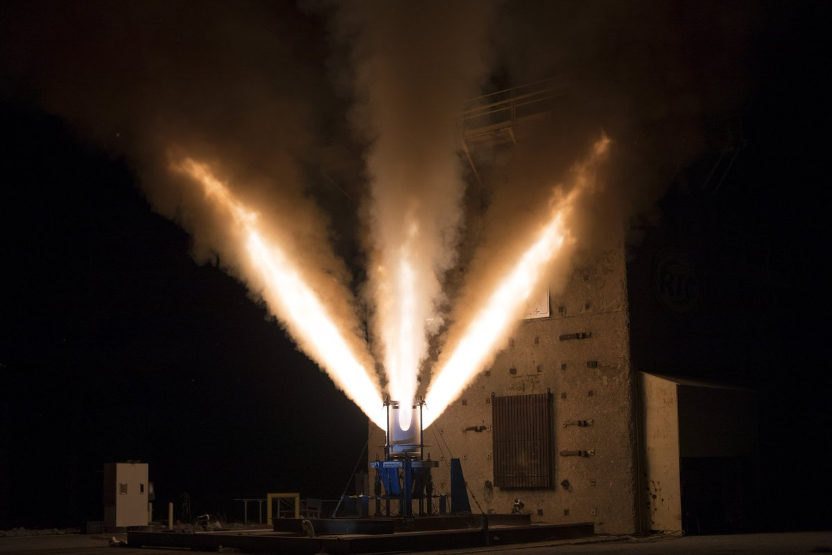The final test of the @NASA_Orion LAS motor The test will happen at the Redstone Test Center in Huntsville, Alabama on Oct. 16 The jettison motor will fire for just under two seconds on the ground, producing more than 40,000 pounds of thrust. #ArtemisGeneration