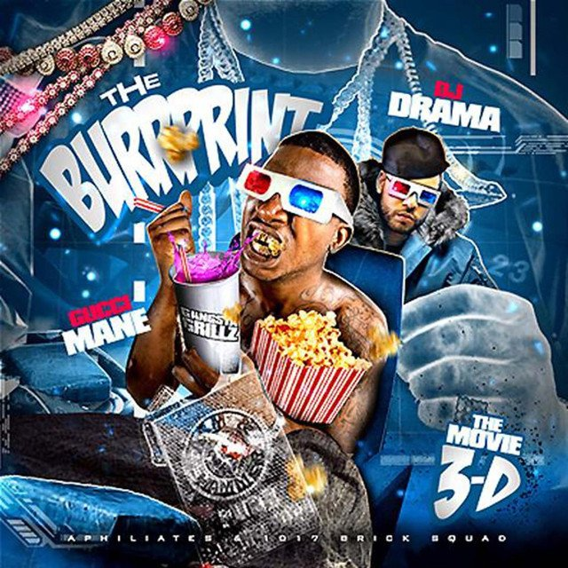 10 years ago today, @gucci1017 dropped his The Burrprint: The Movie 3D mixtape, hosted by @DJDRAMA 2009 was truly Guccis year, and 3D is my personal favorite Gucci Mane mixtape.